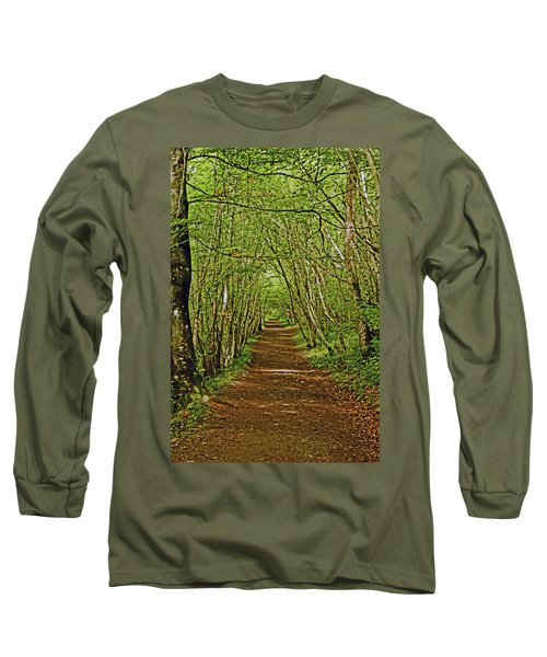 Scotland. Killiecrankie. Path Through The Trees. Long Sleeve T-Shirt