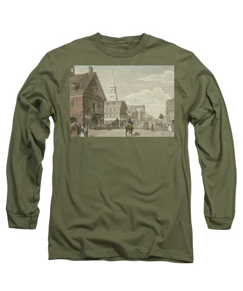 Second Street North From Market St. And Christ Church Long Sleeve T-Shirt
