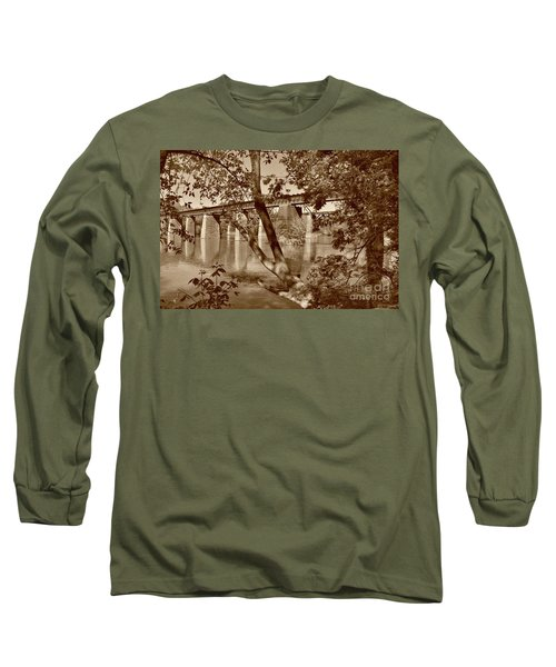 Sepia Painted Trestles Long Sleeve T-Shirt