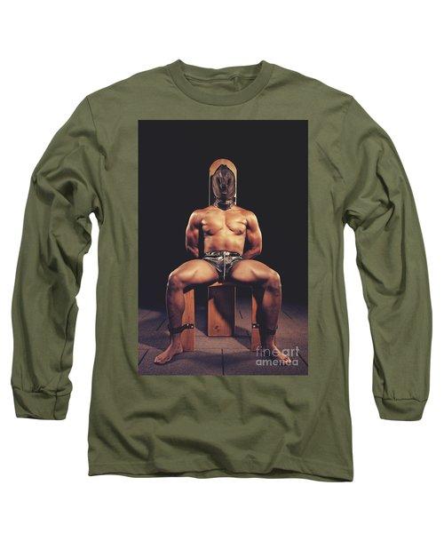 Sexy Man Tiedup On A Bdsm Chair Long Sleeve T-Shirt