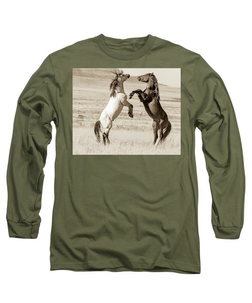 Long Sleeve T-Shirt featuring the photograph Shall We by Mary Hone