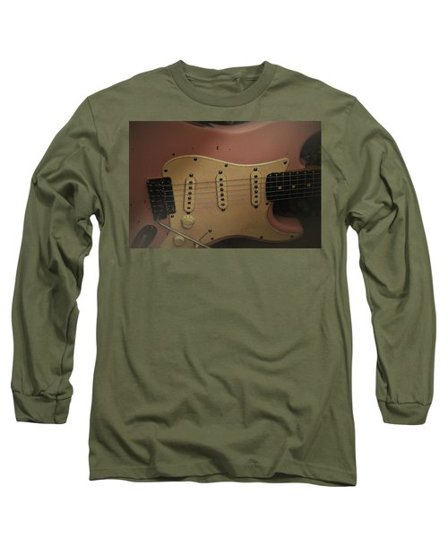 Long Sleeve T-Shirt featuring the photograph Shelly Pink Guitar by Guitar Wacky
