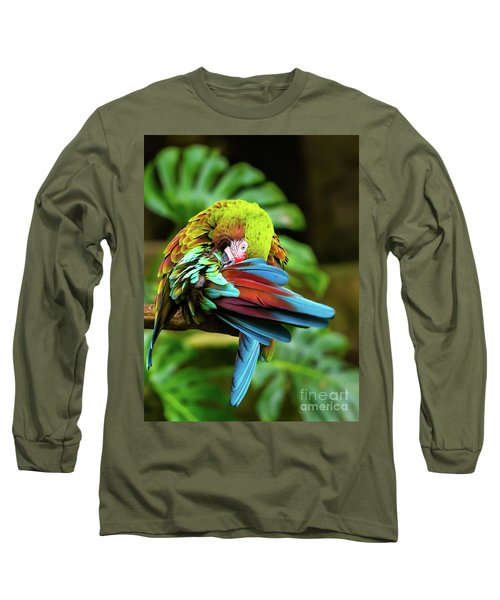 Shy Parrot Long Sleeve T-Shirt
