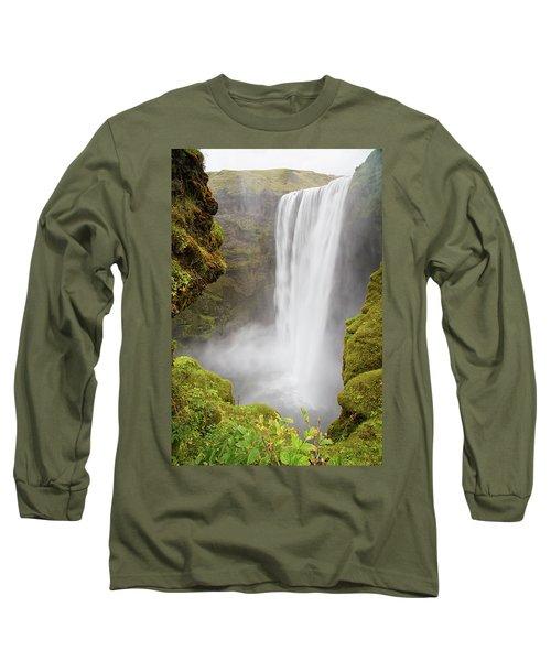 Skogafoss Iceland Long Sleeve T-Shirt