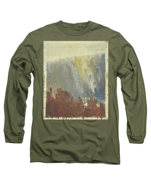 Skogklaedd Fjaellvaegg I Hoestdimma- Mountain Side In Autumn Mist, Saelen _1237, Up To 90x120 Cm Long Sleeve T-Shirt