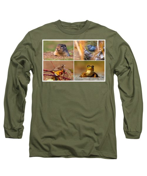 Small Animal Collage Long Sleeve T-Shirt