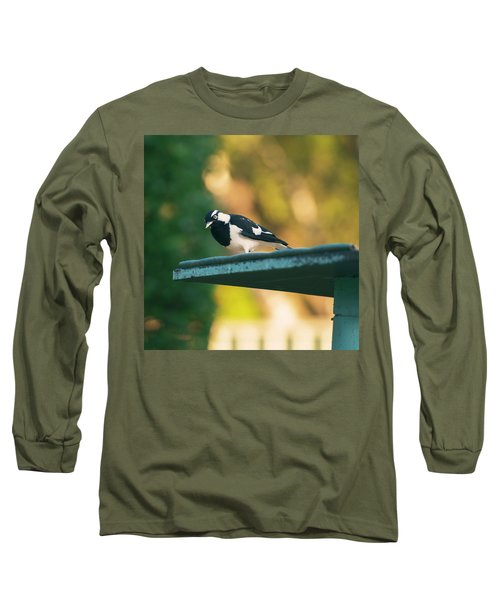 Small Magpie Lark Outside In The Afternoon Long Sleeve T-Shirt