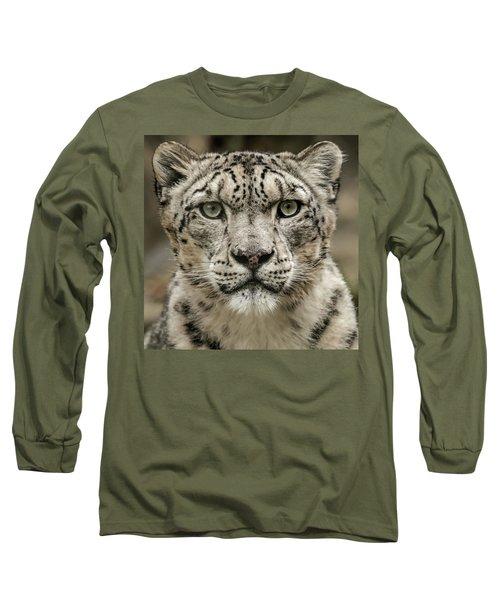 Snowleopardfacial Long Sleeve T-Shirt