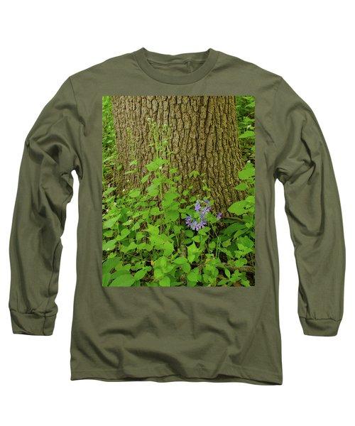 Splash Of Purple Long Sleeve T-Shirt