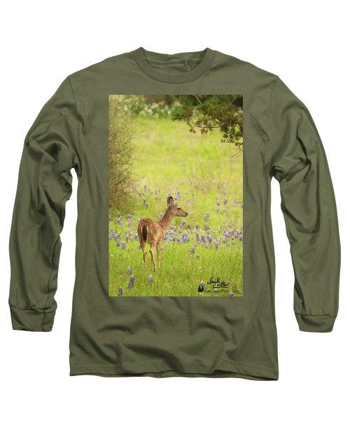 Springtime Whitetail Long Sleeve T-Shirt