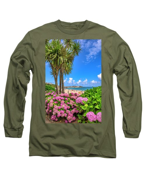 St Ives Cornwall - Summer Time Long Sleeve T-Shirt