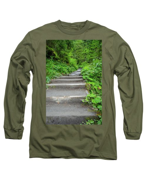 Stairs To The Woods Long Sleeve T-Shirt