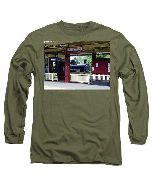 Strathspey Railway. Caladonian Railway 828 Long Sleeve T-Shirt