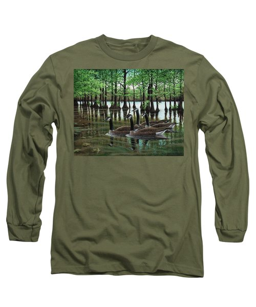 Summer Among The Cypress Long Sleeve T-Shirt