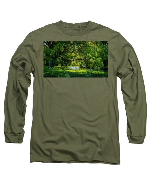 Summer Morning In The Park Long Sleeve T-Shirt