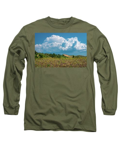 Summer Storm Over The Dunes Long Sleeve T-Shirt