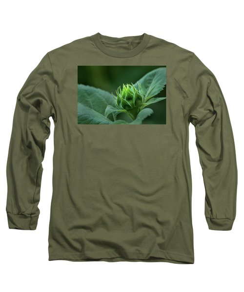 Sunflower Bud Long Sleeve T-Shirt