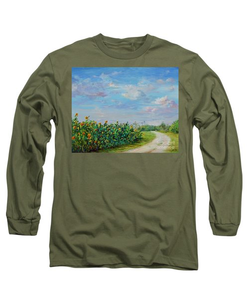 Sunflower Field Ptg Long Sleeve T-Shirt