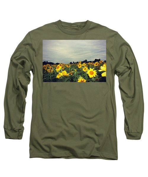 Sunflower Fields Long Sleeve T-Shirt