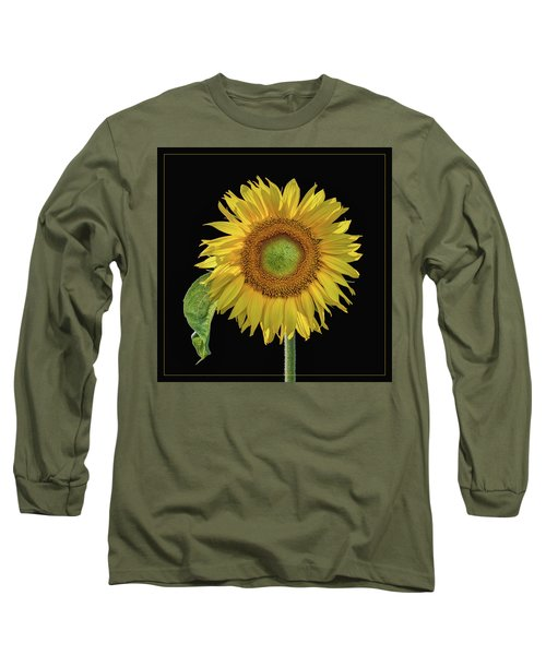 Sunflower With Leaf - Square Long Sleeve T-Shirt