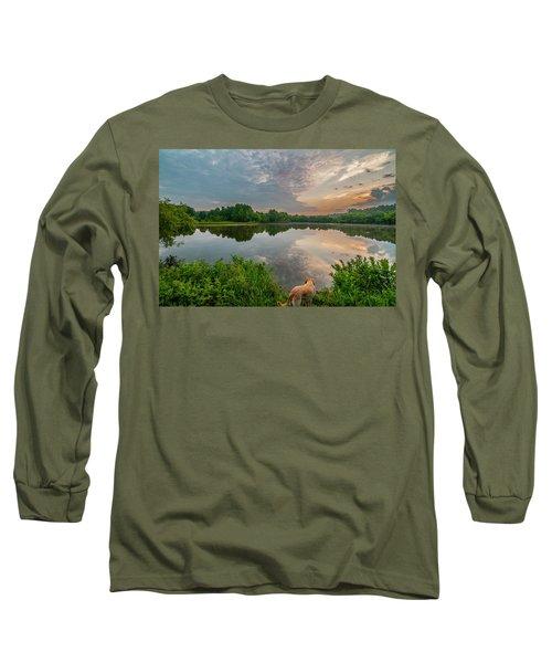 Sunrise At Ross Pond Long Sleeve T-Shirt