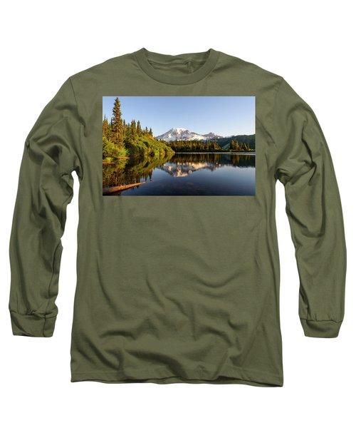 Sunrise In Mt Rainier  Long Sleeve T-Shirt