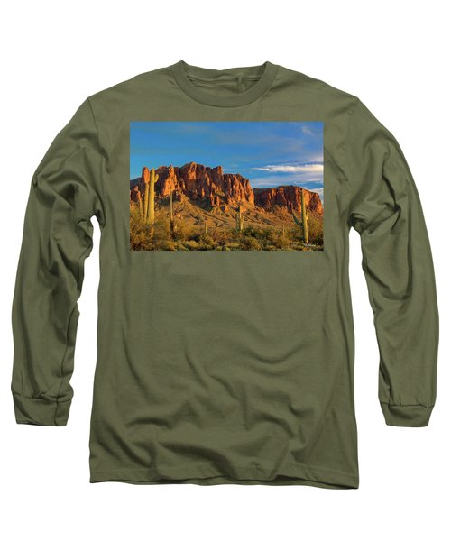 Sunset At Superstition Mountain Long Sleeve T-Shirt