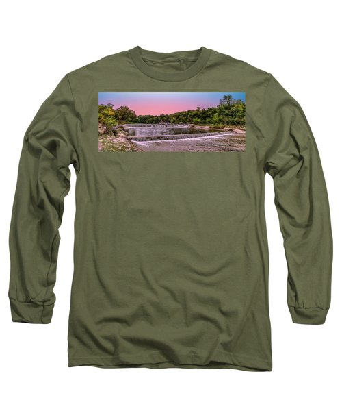 Sunset At The Falls Long Sleeve T-Shirt