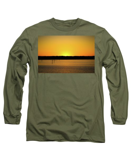 Sunset From National Harbor Long Sleeve T-Shirt