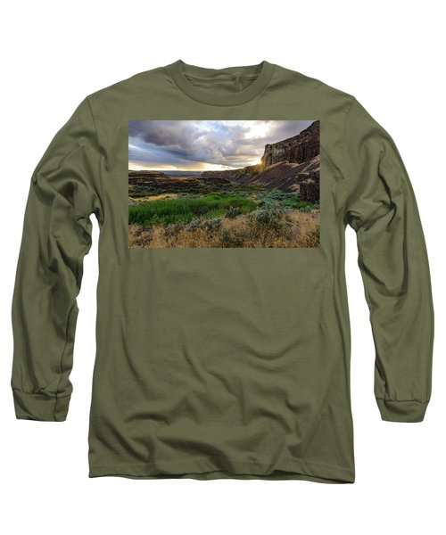 Sunset In The Ancient Lakes Long Sleeve T-Shirt
