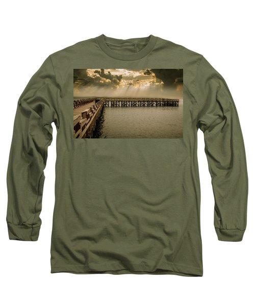 Sunset On Pier Long Sleeve T-Shirt