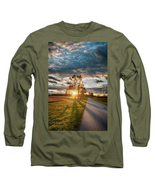 Sunset On The Field Long Sleeve T-Shirt