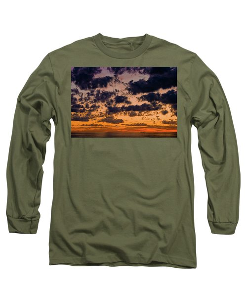 Sunset Over The Indian Ocean Long Sleeve T-Shirt