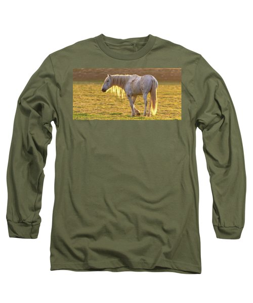 Long Sleeve T-Shirt featuring the photograph Sunset With The Old Guy by Mary Hone