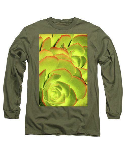 Long Sleeve T-Shirt featuring the photograph Sweet Succulents II by Leda Robertson