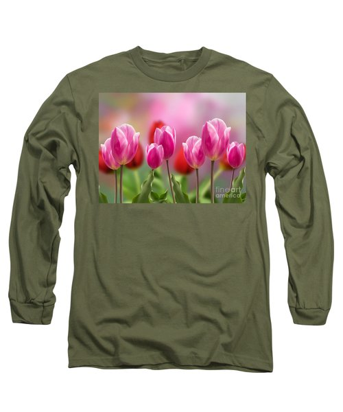 Tall Tulips Long Sleeve T-Shirt
