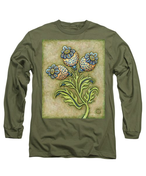 Tapestry Flower 6 Long Sleeve T-Shirt