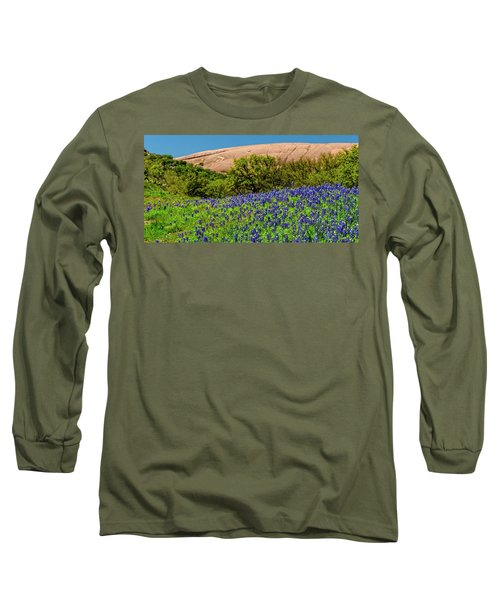 Texas Bluebonnets And Enchanted Rock 2016 Long Sleeve T-Shirt