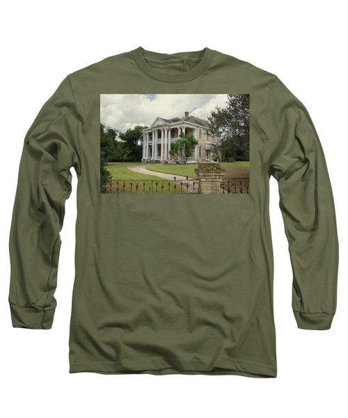 Texas Mansion In Ruin Long Sleeve T-Shirt