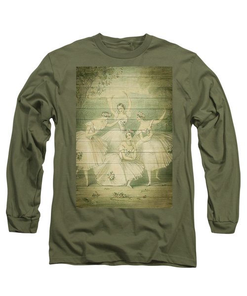The Ballet Dancers Shabby Chic Vintage Style Portrait Long Sleeve T-Shirt