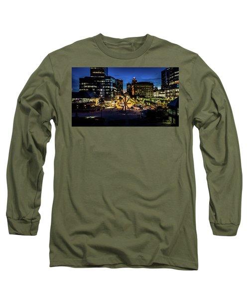 Long Sleeve T-Shirt featuring the photograph The Calling At Blue Hour by Randy Scherkenbach