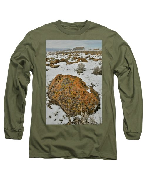 The Lichen Covered Boulders Of The Book Cliffs Long Sleeve T-Shirt