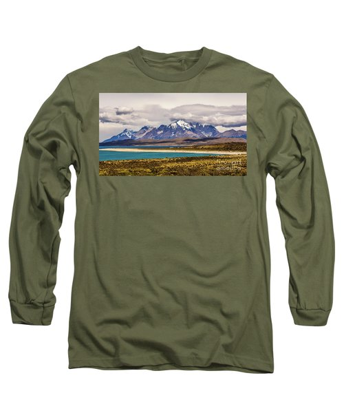 The Mountains Of Torres Del Paine National Park, Chile Long Sleeve T-Shirt