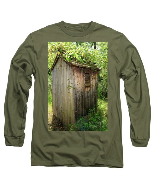 The Outhouse With Country Charm Long Sleeve T-Shirt