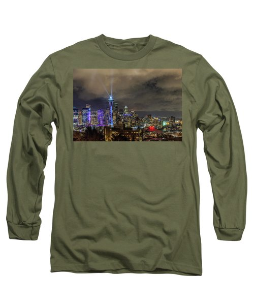 The Star Of Seattle Long Sleeve T-Shirt