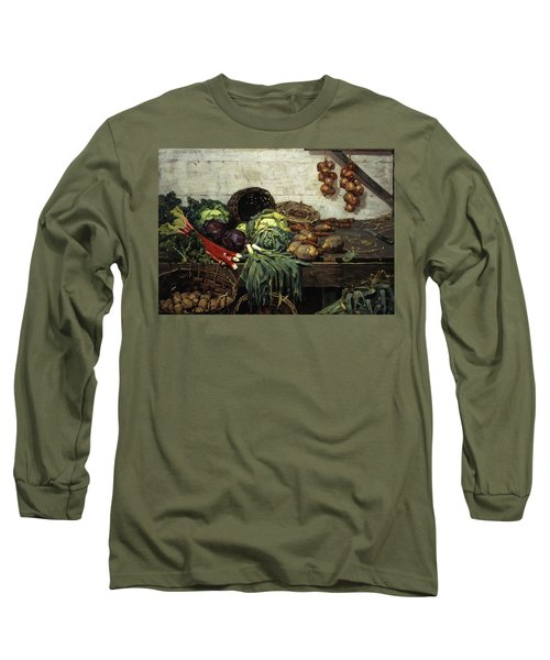 The Vegetable Stall, 1884 Long Sleeve T-Shirt