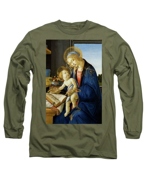 The Virgin And Child, The Madonna Of The Book Long Sleeve T-Shirt