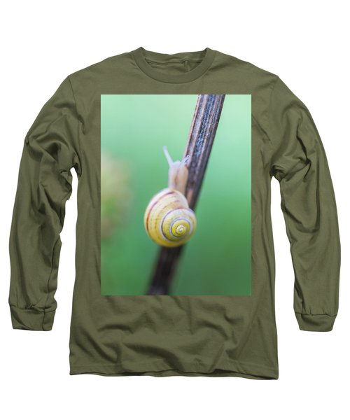 Tiny Snail With A Yellow Shell Long Sleeve T-Shirt