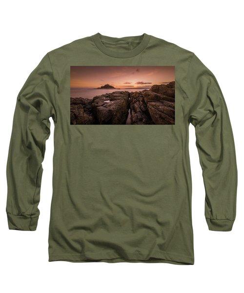 To The Sunset - Marazion Cornwall Long Sleeve T-Shirt