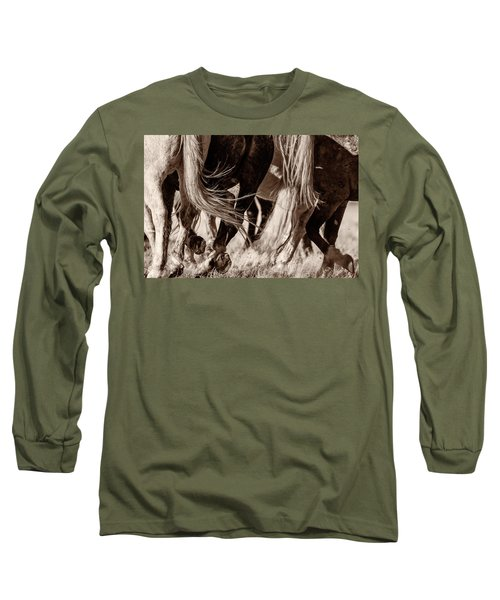 Long Sleeve T-Shirt featuring the photograph Travelers by Mary Hone